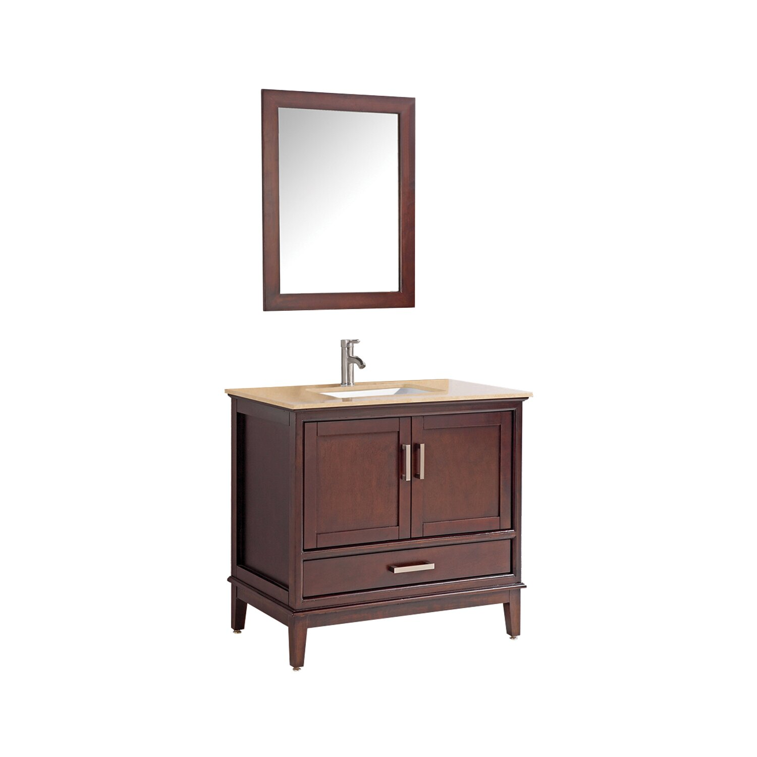 "MTDVanities Sierra 24"" Single Bathroom Vanity Set with ..."