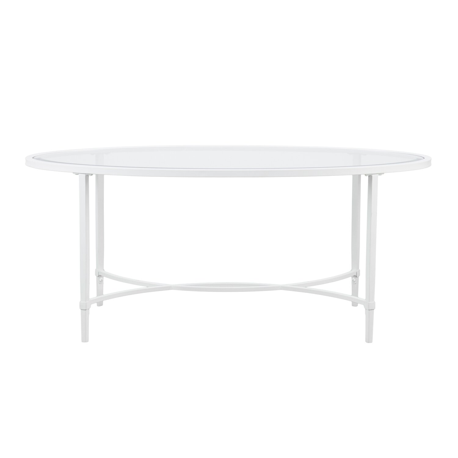 Lincoln Metal Glass Oval Coffee Table Allmodern