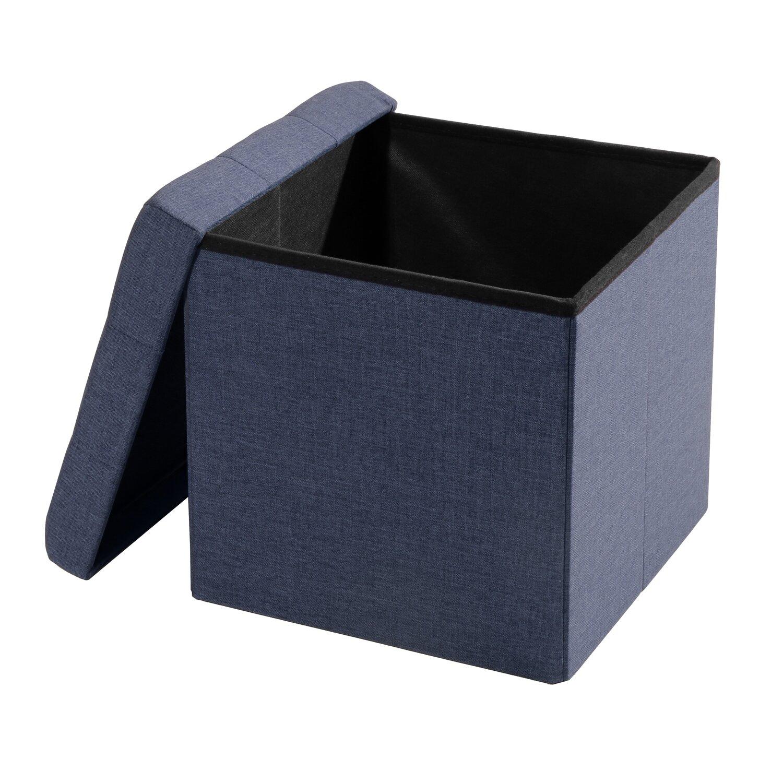 Zosia Tufted Foldable Storage Cube Ottoman - Zipcode™ Design Zosia Tufted Foldable Storage Cube Ottoman