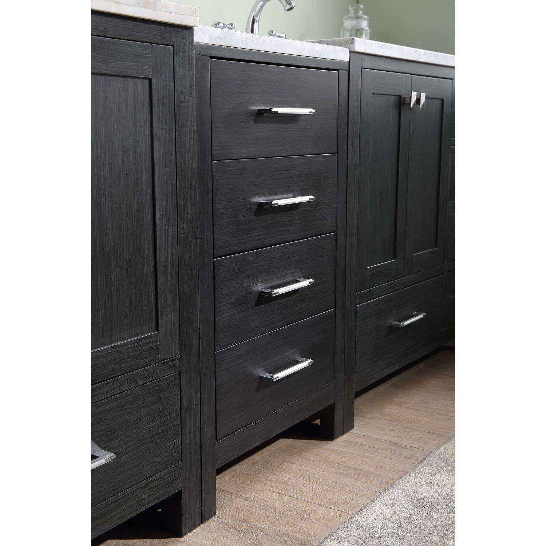Latitude Run Stoneham 90 Double Bathroom Vanity Cabinet Set With Mirror Reviews Wayfair