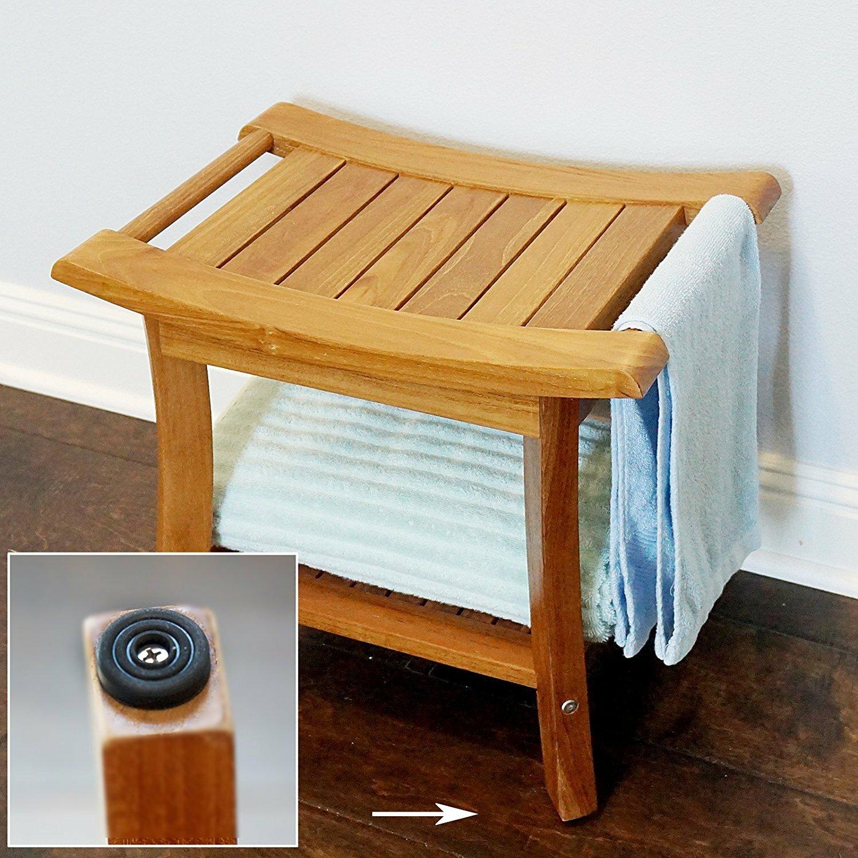 Welland industries llc deluxe teak glide shower seat for Abanos furniture industries decoration llc