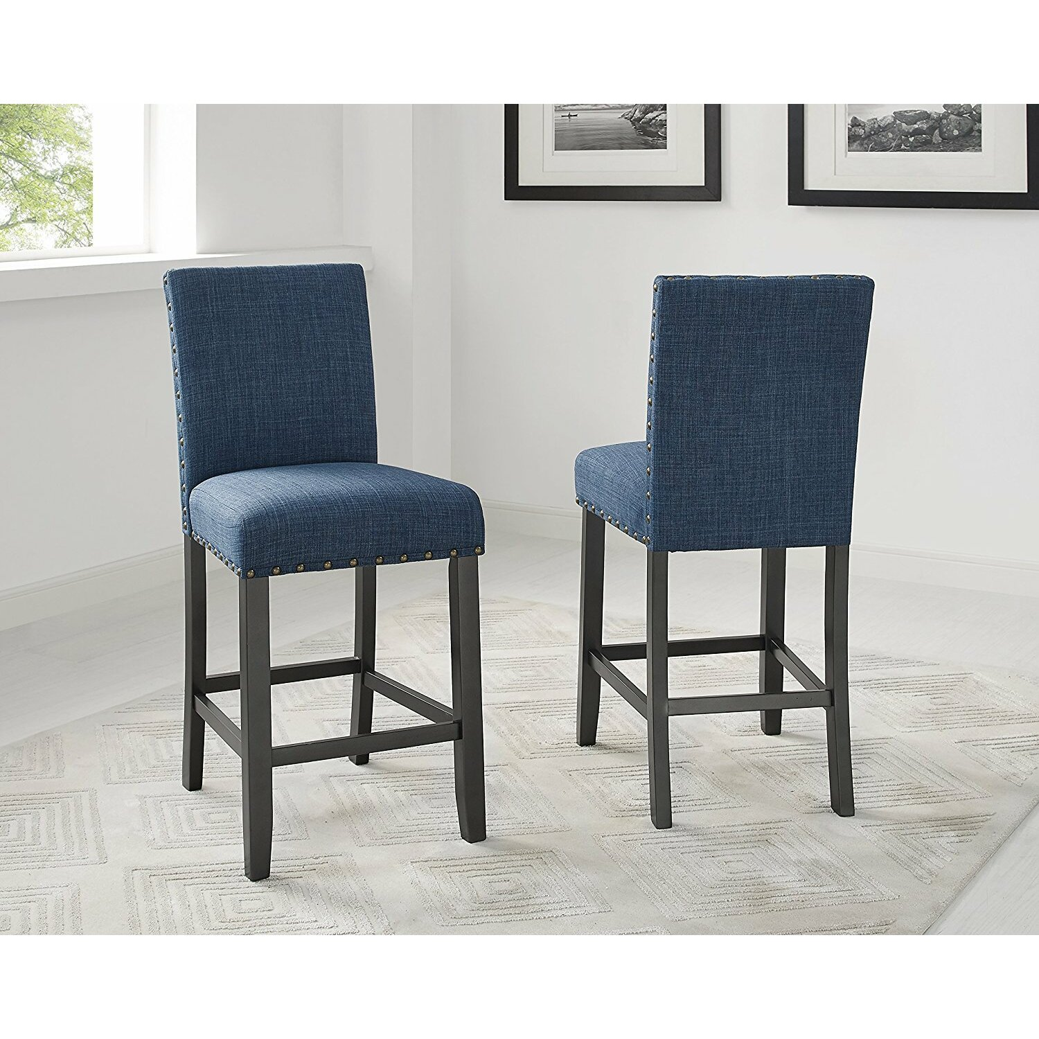 Set Of 4 Kitchen Counter Height Chairs With Microfiber: Brayden Studio Raquel Wood Counter Height 5 Piece Dining