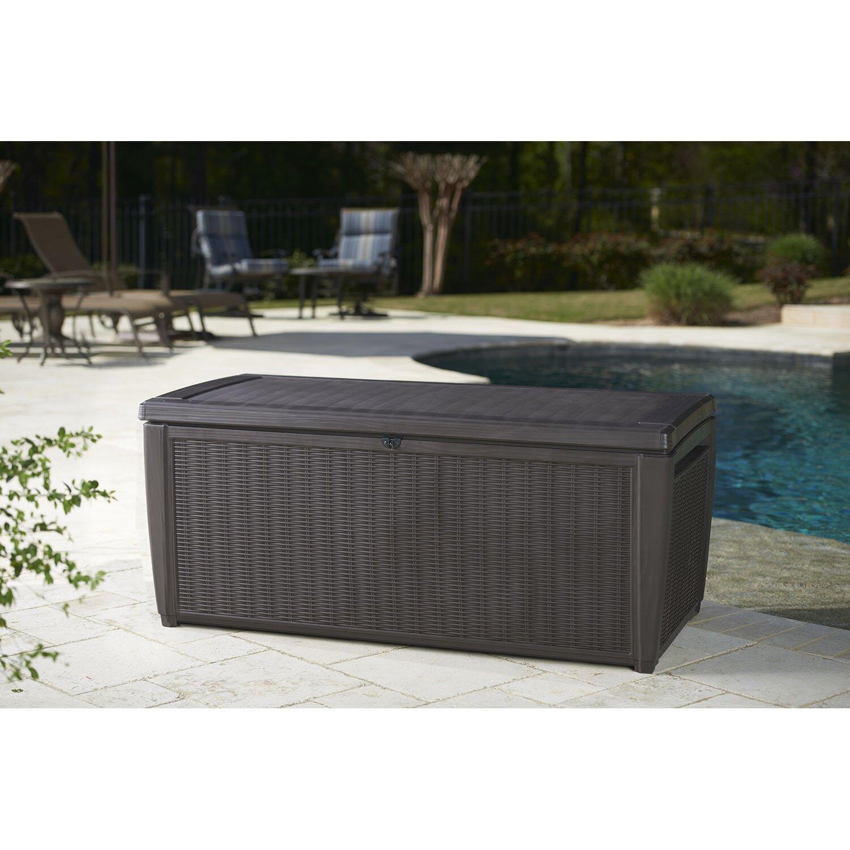 Keter Sumatra 135 Gallon Plastic Deck Box Amp Reviews Wayfair