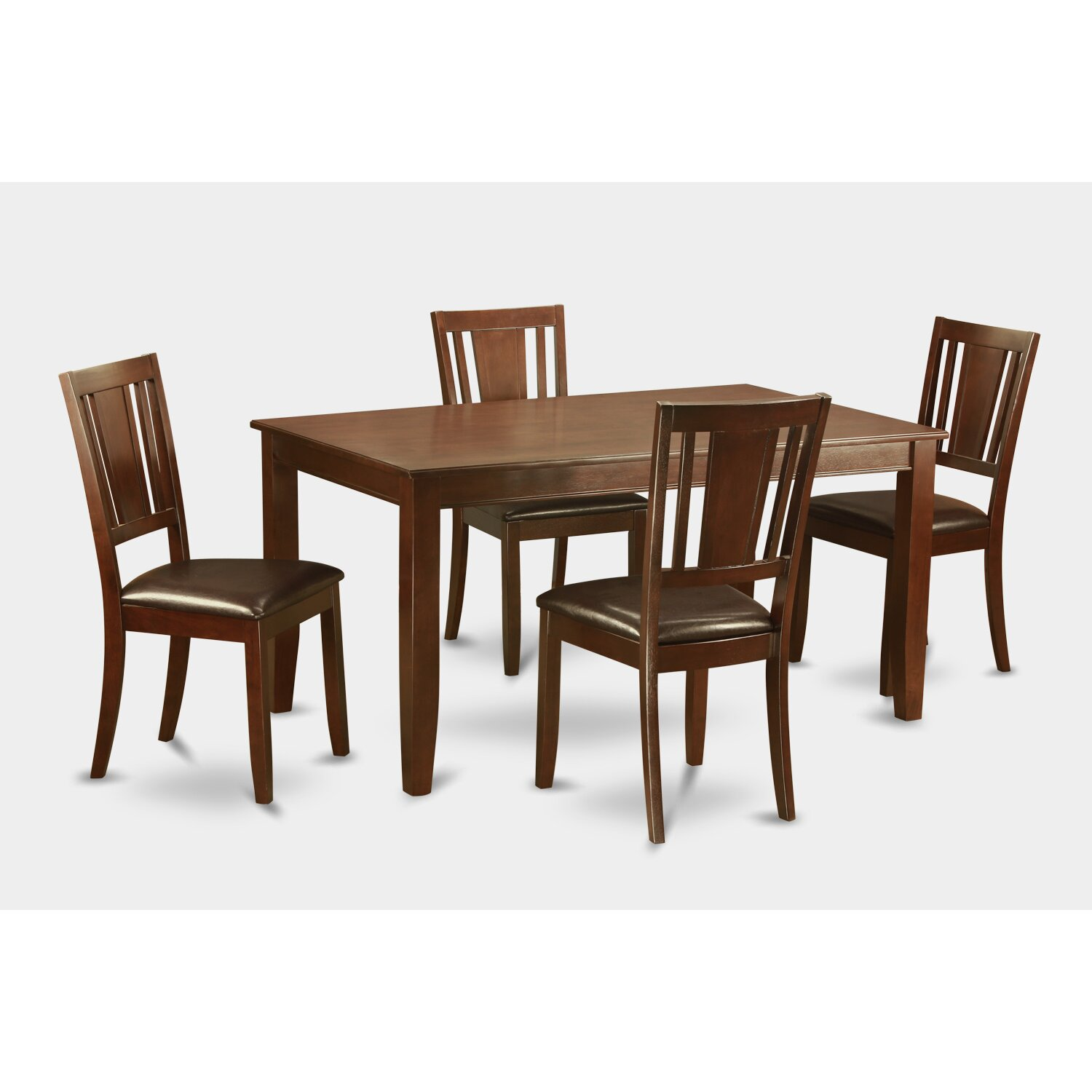 Wooden Importers 3 Piece Dining Set Reviews: Wooden Importers Dudley 5 Piece Dining Set & Reviews