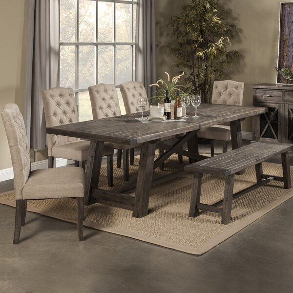 loon peak todd creek extendable dining table & reviews | wayfair