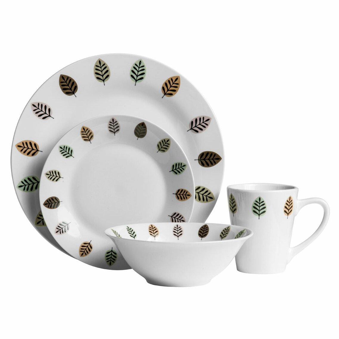Castleton Home 16 Piece Porcelain Dinnerware Set Amp Reviews