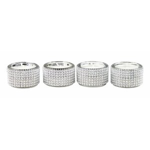 Diamante 4 Piece Tea Light Holders