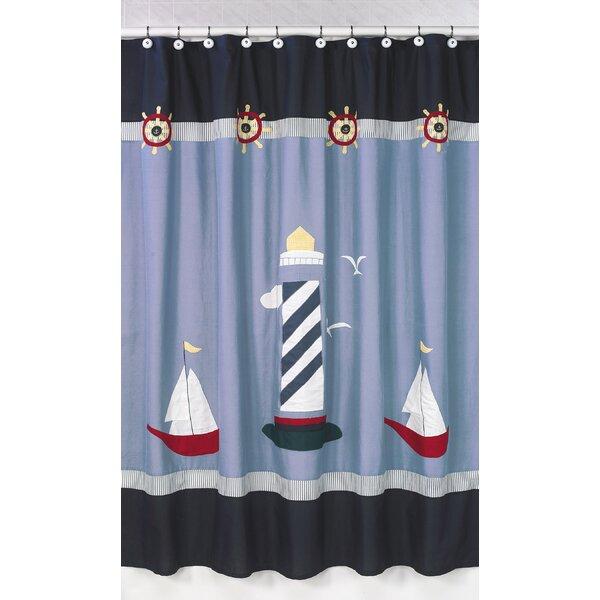 Sweet Jojo Designs Come Sail Away Cotton Shower Curtain & Reviews   Wayfair - Sweet Jojo Designs Come Sail Away Cotton Shower Curtain & Reviews