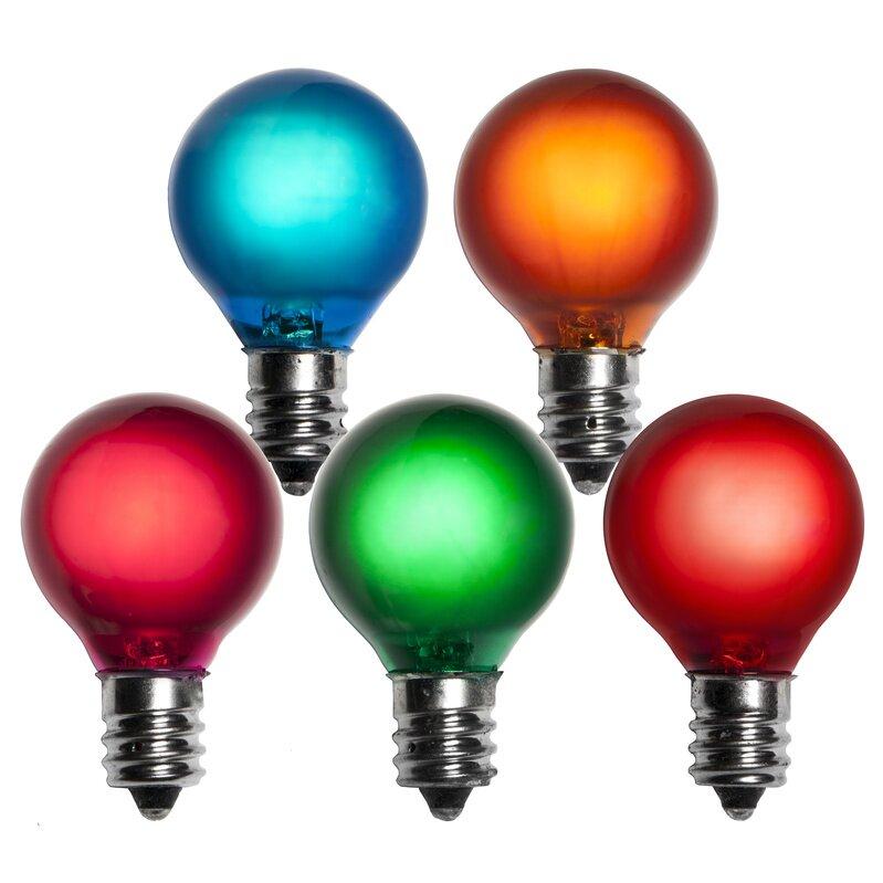 wintergreen lighting 5w multicolor 130 volt light bulb pack of 25. Black Bedroom Furniture Sets. Home Design Ideas