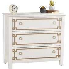ables 3 drawer overlay accent chest