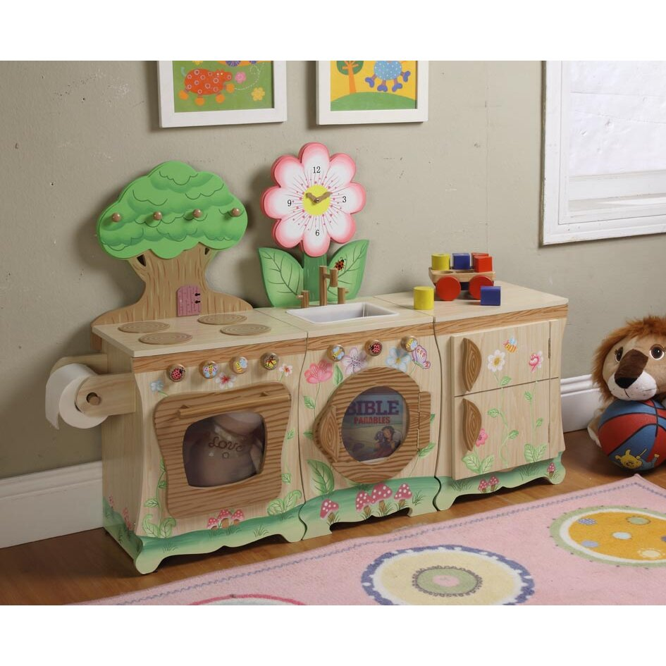Teamson kids forest kitchen enchanted set reviews wayfair for Kitchen set from the 90 s
