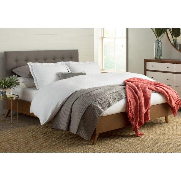 brayden studio smallwood upholstered platform bed reviews wayfair - Upholstered Platform Bed Frame