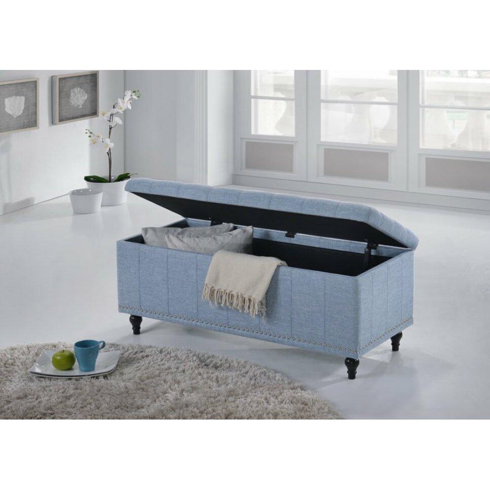Varian Upholstered Storage Bedroom Bench Birchlane: Baxton Studio Luca Upholstered Storage Bedroom Bench