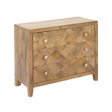 3 Drawer Wood Accent Chest