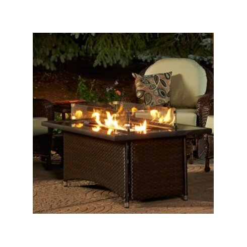 The Outdoor GreatRoom Company Montego Crystal Fire Pit Coffee
