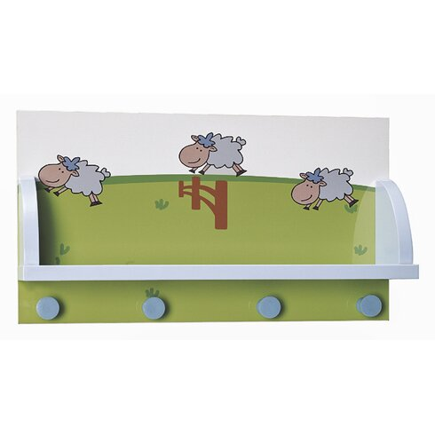 Kids' Wall Mounted Coat Rack