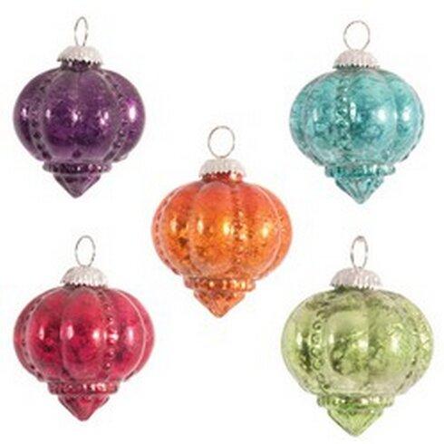 Foiled Shankh Finial Ornament
