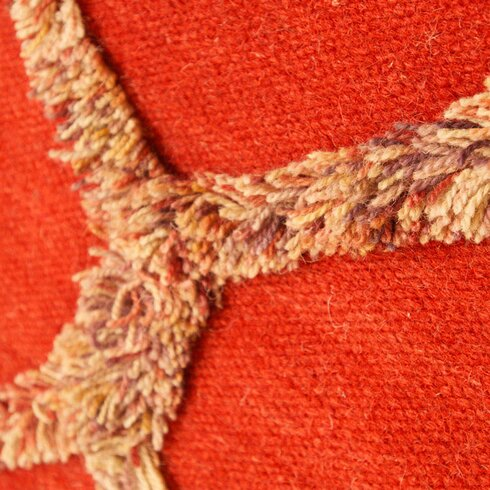 Bliss Hand-Woven Wool Red Rug