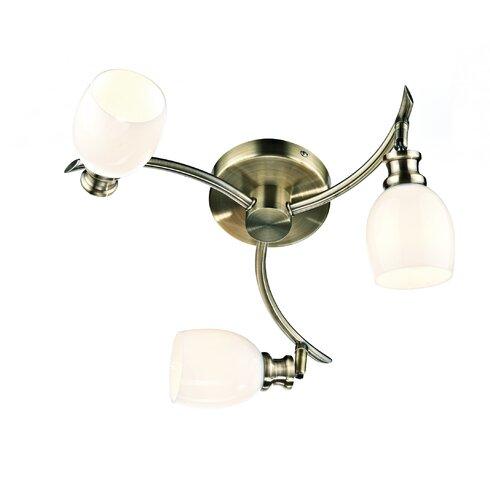 Adler 3 Light Semi-Flush Ceiling Light