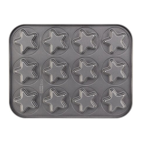 Non-Stick 37.8 cm Star Carbon Steel Cookie Pan