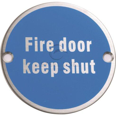 Steel Line Fire Door Keep Shut Symbol