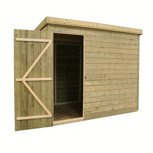 6 x 5 Wooden Lean-To Shed