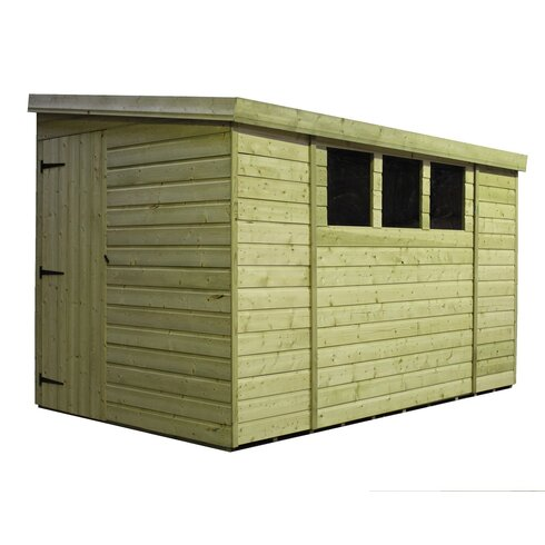 9 x 6 Wooden Lean-To Shed