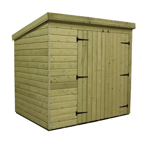 7 x 6 Wooden Lean-To Shed
