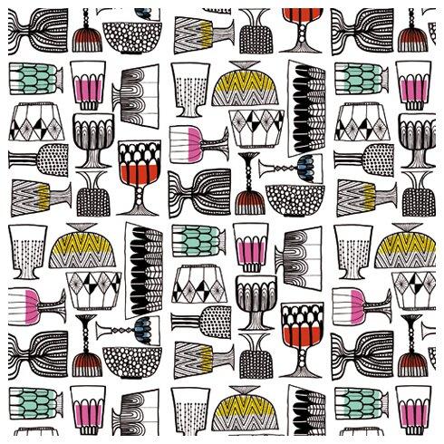"""Marimekko II 33' x 27"""" Beverage Wallpaper"""