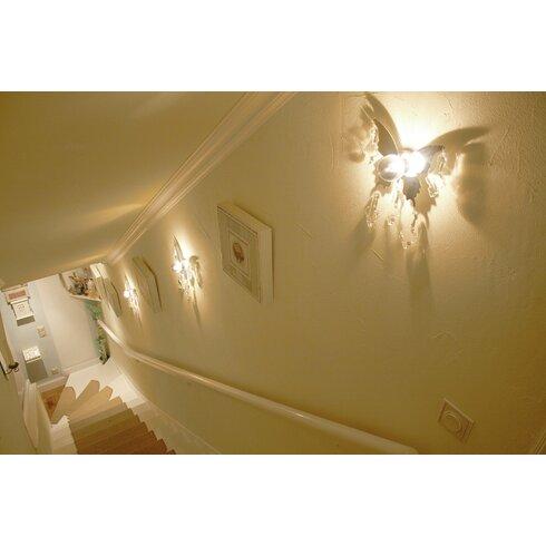 Design-Wandleuchte 1-flammig Butterfly