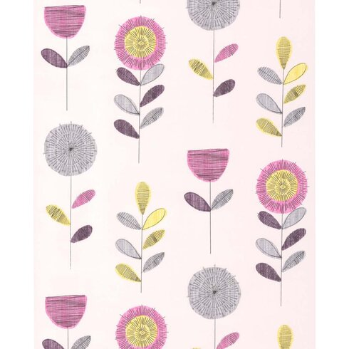 Fresco 10m L x 52cm W Floral and Botanical Roll Wallpaper
