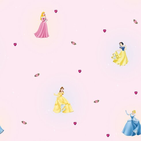 Princess 10m L x 52cm W Figural Roll Wallpaper