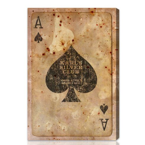 Hatcher Amp Ethan Ace Of Spades Graphic Art On Wrapped