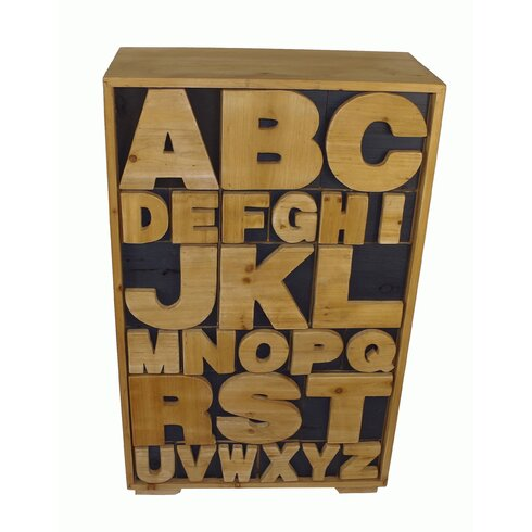 Alphabet 26 Drawer Chest