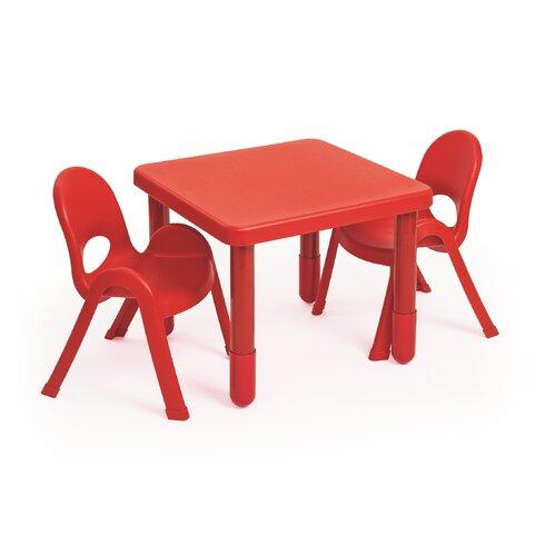 Angeles Myvalue Set Kids 3 Piece Square Writing Table Set
