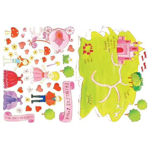 2 Piece Princess Land Wall Sticker Set