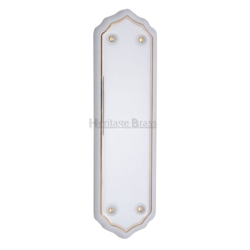 Gold Line Finger Plate