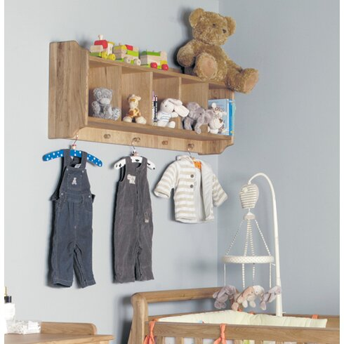 Amelie Childrens Oak Bedroom Accent Shelf