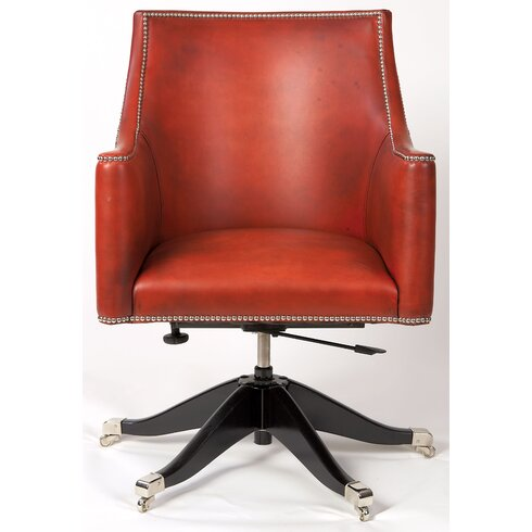 Trafalgar Mid-Back Leather Desk Chair