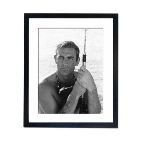 Sean Connery with Spear Gun Framed Photographic Print