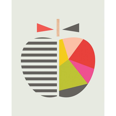 Geometric Apple by Little Design Haus Canvas Wall Art