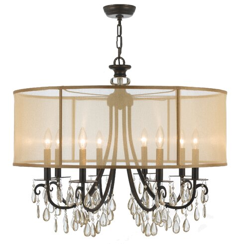 crystorama hampton 8 light drum chandelier reviews wayfair. Black Bedroom Furniture Sets. Home Design Ideas