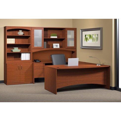 Mayline Brighton 6 Piece Series U Shape Desk Office Suite