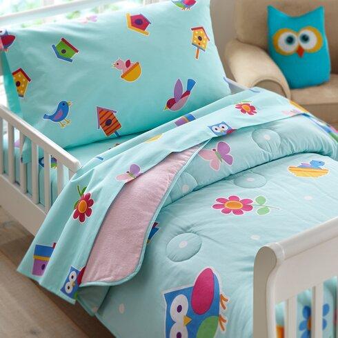 Wildkin 3 Piece Olive Kids Birdie Toddler Sheet Set