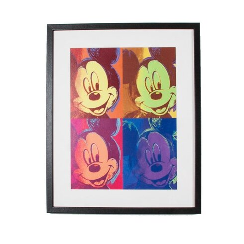 Mickey Pop Disney Framed Graphic Art