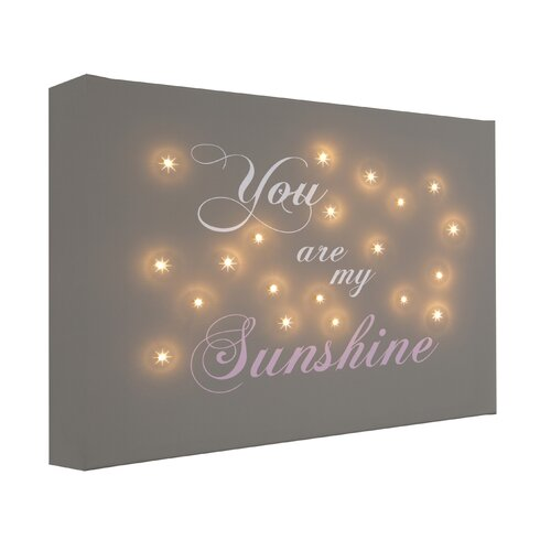 You Are My Sunshine Typography on Canvas