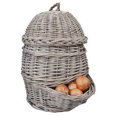 Esschert's Garden 1.7L Willow Onion Basket
