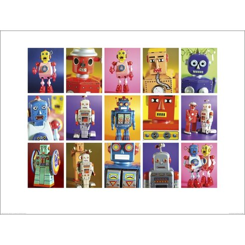 Robot Metropolis by Howard Shooter and Lauren Floodgate Graphic Art