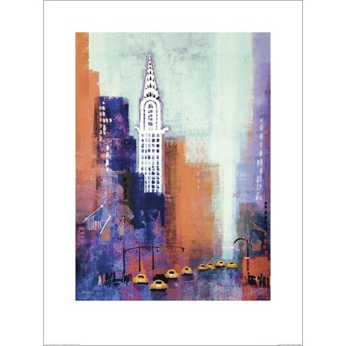 Manhattan Chrysler Building by Colin Ruffell Art Print