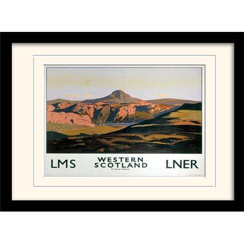 Western Scotland Framed Vintage Advertisement